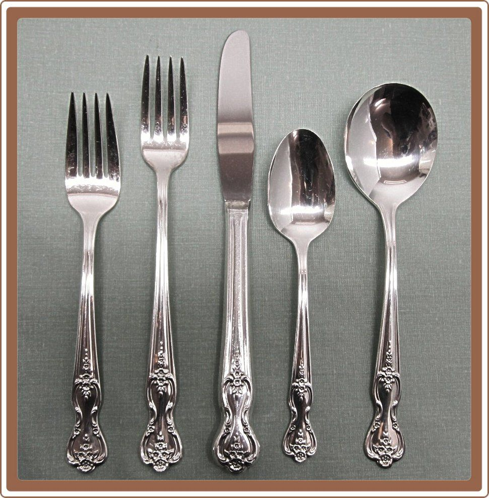 Magnolia aka Inspiration Silverplate Flatware Set