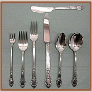 Rendezvous aka Old South Silverplate Flatware Set Oneida Community
