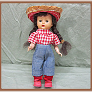 SALE Nancy Ann Muffie Hard Plastic Doll
