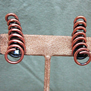 Renoir Copper Earrings Spiral Circles