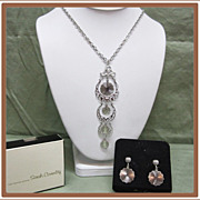Sarah Coventry Snow Lace Necklace and Earrings