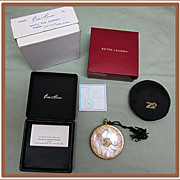 Estee Lauder Watch Fob Compact Original Box Pouch