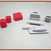 Marx Dollhouse Plastic Kitchen Canisters Food and More