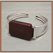 SALE PENDING Sarah Coventry Wood Bracelet No 9730 Suitable