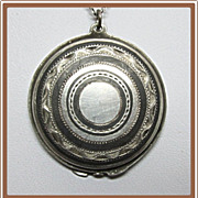 Niello Silver Locket 950
