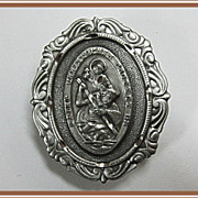 St Christopher Car Visor Clip Medal