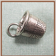 Sterling Thimble Charm