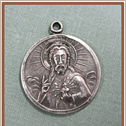 Sacred Heart of Jesus Catholic Medal Sterling Silver