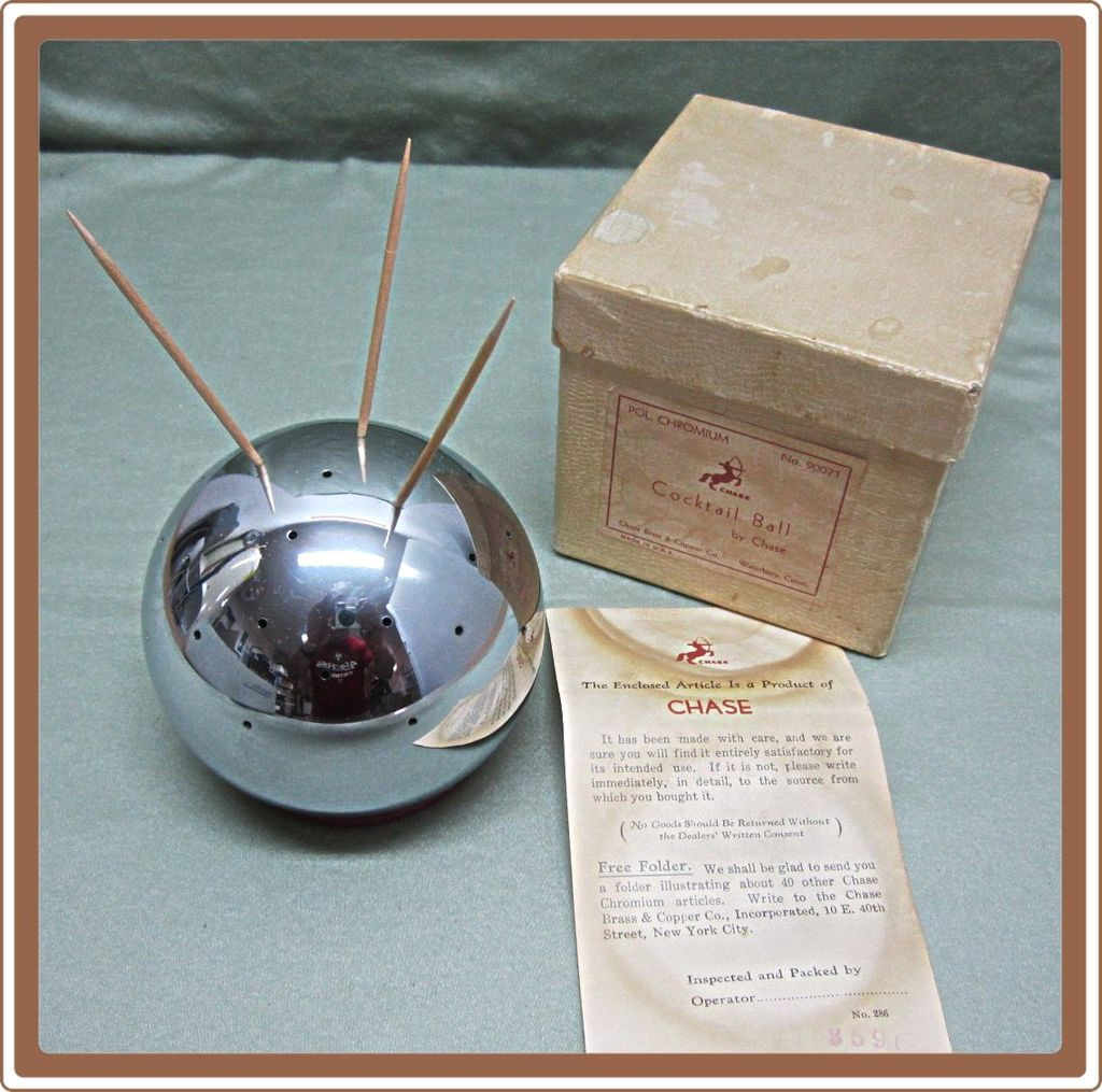Chase Chrome Cocktail Ball Original Box