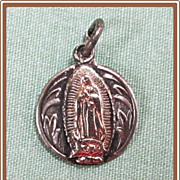 SALE PENDING Catholic Medal Our Lady of Guadalupe Sterling Silver