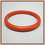 Bakelite Butterscotch Bangle Bracelet