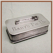 Silverplated Baby Pin Box Victoria