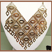 SALE PENDING Sarah Coventry Mandarin Magic Massive Bib Waterfall Necklace