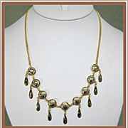 Damascene Teardrop Necklace Toledo