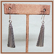 Modernist Sterling Silver Earrings Pierced
