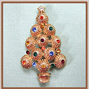 Hedy Rhinestone Christmas Tree Pin