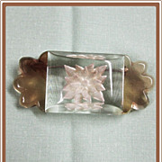 SALE Reverse Carved Lucite Pin Big and Chunky