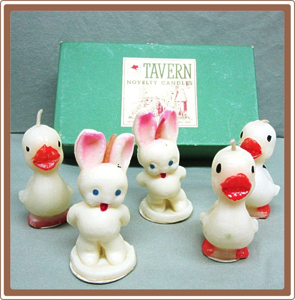 Tavern Easter Bunny Duck Candles