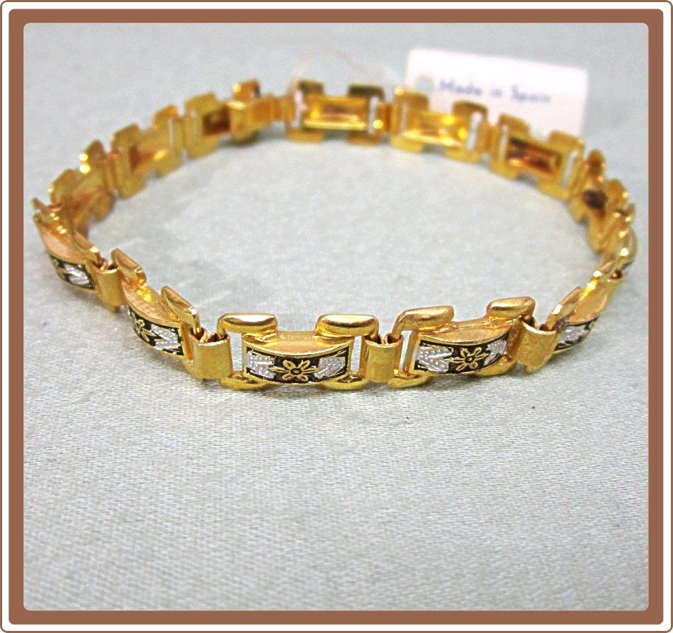 Spain Damascene Link Bracelet