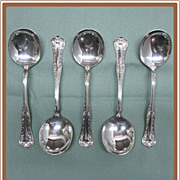 Queen Elizabeth Silverplate Soup Spoons