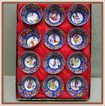 Japanese China Sake Cups Geisha Girl in Original Box