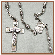 SALE Sterling Silver Rosary L S Mayer