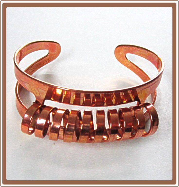 Copper Cuff Bracelet Coiled Sarah  Coventry