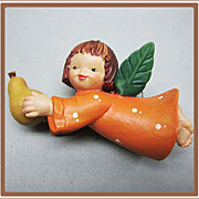 Anri Ferrandiz Christmas Ornament Angel with Pear
