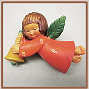 Anri Ferrandiz Christmas Ornament Angel with Bell