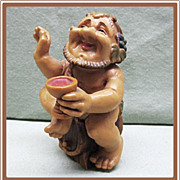 SALE Anri  LIttle Folks Bacchus the Wine Tester Figurine