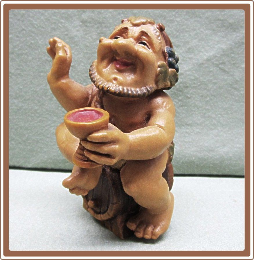 Anri  LIttle Folks Bacchus the Wine Tester Figurine