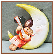 Anri Ferrandiz Christmas Ornament Girl in Moon