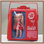 SALE 1960's Remco Doll Heidi Pocketbook with Case and Wardrobe