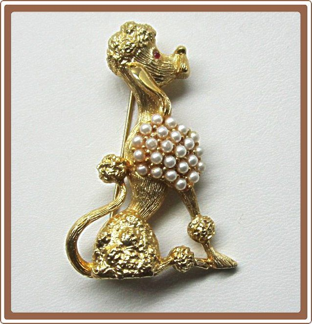 Tortolani French Poodle Pin