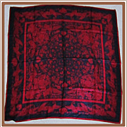 Vintage Adrienne Vittadini Silk Scarf Burgundy Paisley