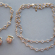Swarovski Crystal Necklace, Bracelet and Earrings Parure