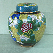 Large Cloisonne Covered Jar Chinese