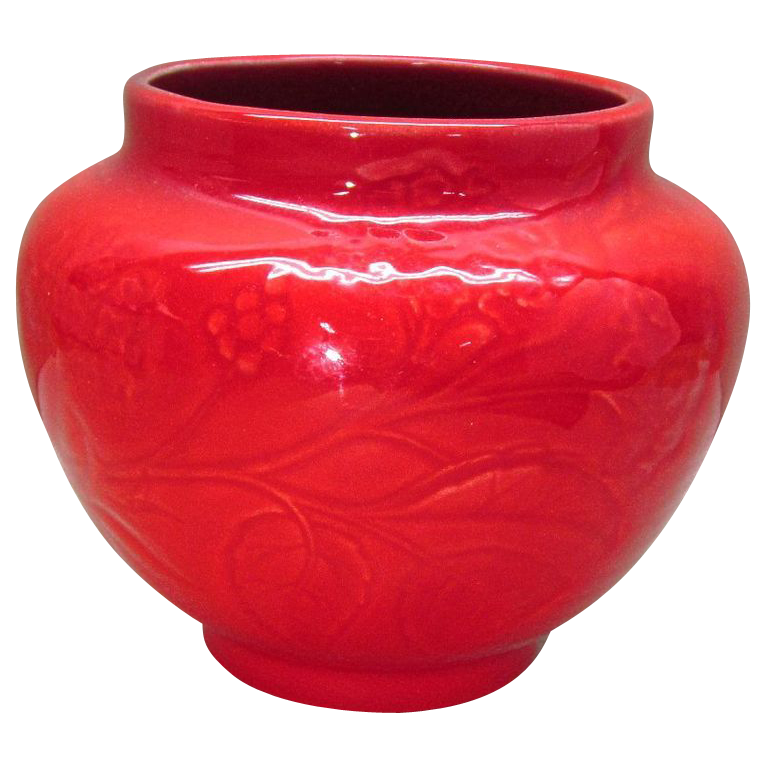 Gladding McBean Flambe Pottery Pot Red Rare and Wonderful