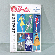 Advance Mattel Barbie Doll Pattern 1961