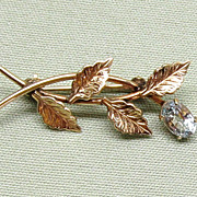 Van Dell 14K Gold Fill and Topaz Pin