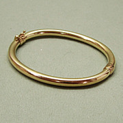 14K Gold Hinged Bangle Bracelet