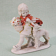 Old German Bisque Figurine Little Red Riding Hood