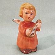 Little Goebel Angel Playing The Mandolin West Germany