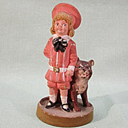 SALE Buster Brown and Tige Advertising Figurine Bisque