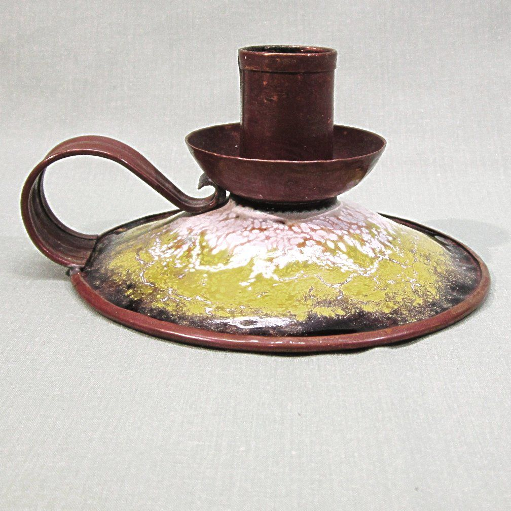 Serge Nekrassoff Enamel on Copper Candleholder
