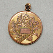 Aesthetic Movement Gold Filled Locket