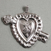 Sterling Silver Key To My Heart Pendant from Reed & Barton