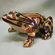 Brush McCoy Pottery Frog Planter
