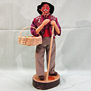 SALE French Santon de Provence Clay Figure Doll Fruit Peddler