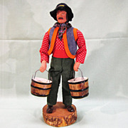 French Santon de Provence Clay Figure Doll Water Carrier